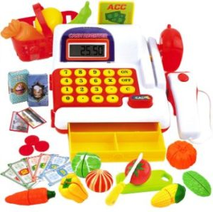 #6. FUNERICA Play Cash Register Toy for Kids