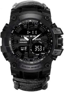 7. 6-in-1 Sports Watch with Dual Analog Digital LED Display