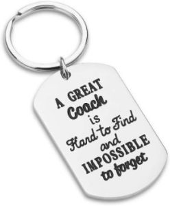#7. Keychain Sports Gifts, Stainless Still Coach gift