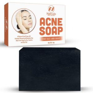Natrulo Acne Bar Soap with Activated Charcoal & Bentonite Clay