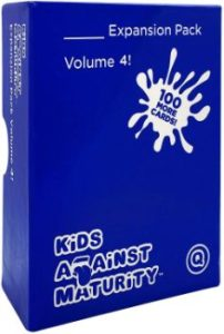 8. Kids against Maturity Card Game Expansion Pack