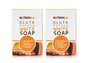 #8. NATICHAA Glutathione Papaya White Soap