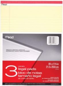 #8. Mead Legal Pads Writing Pads
