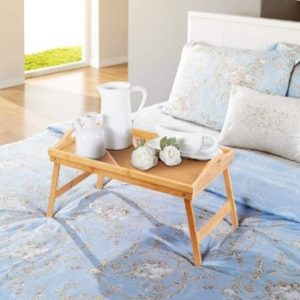 1. Jibanie Wooden Breakfast Table Tray