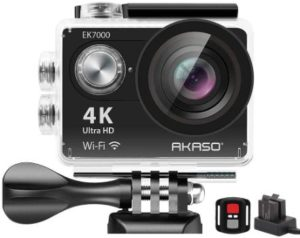 10. AKASO EK7000 4K WiFi Sports Action Camera