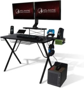10. Atlantic Gaming Original Gaming-Desk Pro- Curved-Front