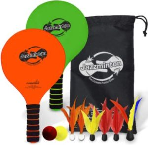 10. Funsparks Paddle Ball Game Jazzminton Deluxe