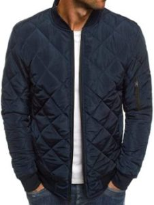 10. Mens Quilted Bomber Jackets, Hip Hop Coat
