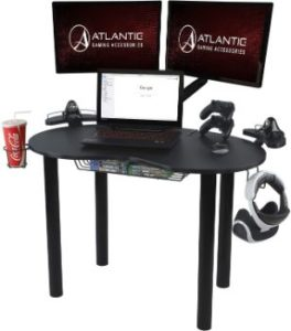 2. Atlantic Gaming Original Gaming Desk - Eclipse Space Saver