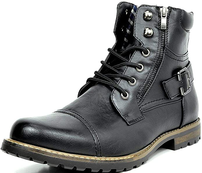 2. Bruno Marc Men's Military Boots