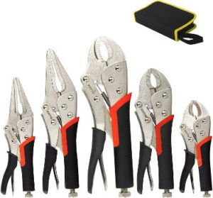 2. KOTTO Locking Pliers Set, 5 Pack Set
