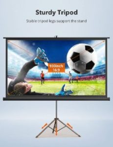 2. TaoTronics Projector Screen with Stand
