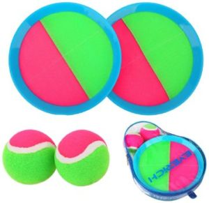 3. EVERICH TOY Paddle Toss and Catch Ball Set