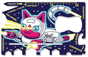 3. Wallet Ninja Space Puppy, Robot Kitty 18 in 1 Credit Card Sized Multitool