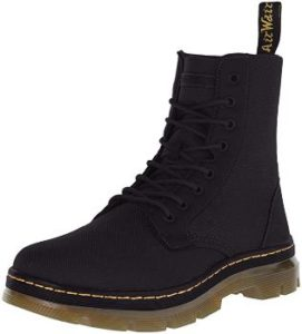 4. Dr. Martens Men's Combs Washed Canvas Combat Boot