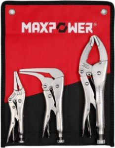 4. MAXPOWER Locking Pliers Set, 3 Pieces