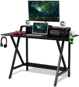 4. Tangkula Gaming Computer Desk (Black)