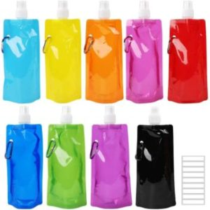 4. Tomnk Collapsible Water Bottle, 9Pcs