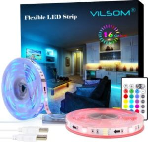 4. ViLSOM 20 Feet USB LED Strip Lights