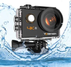 4. Yolansin 4K Action Camera, Waterproof