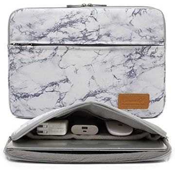 5. Canvaslife 14-inch Laptop Sleeve case, Marble Pattern