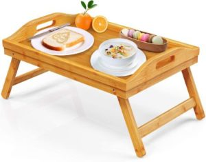 7. FURNINXS Bamboo Bed Tray