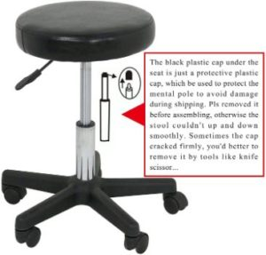 8. Adjustable Hydraulic Rolling Swivel Salon Stool Chair