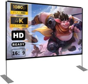 8. HOIN 100 inch Projector Screen with Stand