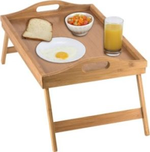 8. Home-it Bed Tray table with folding legs