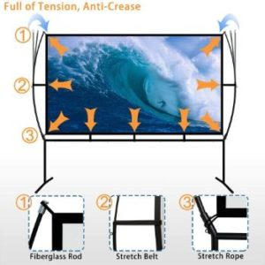 9. Blina 100 inch Portable Projector Screen with Stand