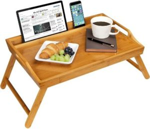 9. Rossie Home Media Bed Tray with Phone Holder