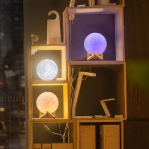 # 1 LOGROTATE Moon Lamp