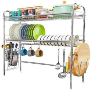 #2. HOEMU Over Sink Dish Drying Rack