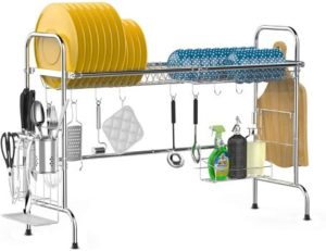 #4. iSPECLE Over Sink Dish Drying Rack