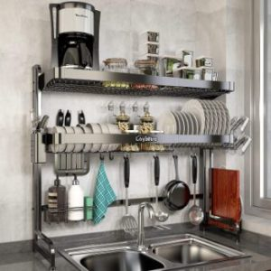 #5. Loyalfire Over Sink Dish Drying Rack