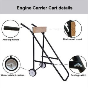 1. LEADALLWAY Outboard Boat Motor Stand Carrier Cart