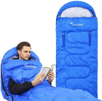 1. Sportneer Lightweight Waterproof Sleeping Bag