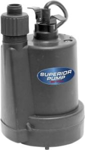 1. Superior Pump 91250 Thermoplastic Utility Pump