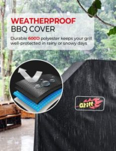 1. VicTsing 58-Inch Waterproof BBQ Cover