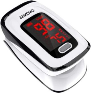 10. ANKOVO Blood Oxygen Saturation Monitor