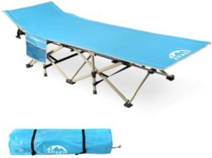 10. ARAER Camping Cot, Foldable Outdoor Bed