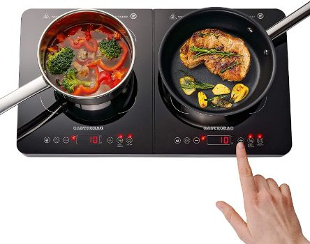 10. Gastrorag 1800W Portable Double Induction Ceramic Cooktop