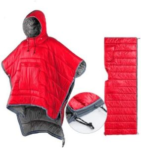 10. Thermal Poncho Wearable Hooded Blanket