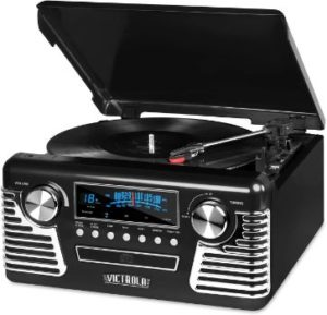 #2. Victrola 50's Retro Bluetooth Record Player & Multimedia Center Turntable
