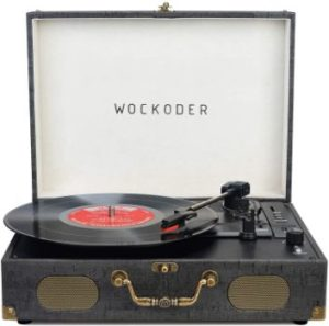 3. WOCKODER 3 Speed Turntable Record Player
