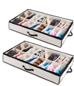 #4. Woffit under the Bed Shoe Organizer