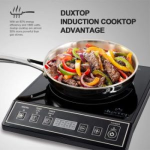 5. Duxtop 1800W Portable Induction Cooktop, 9100MC BT-M20B