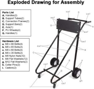 5. Newsmarts Outboard Motor Stand, Engine Carrier Cart