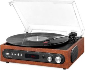 #5. Victrola All-in-1 Bluetooth Turntable