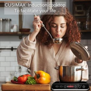 6. CUSIMAX 1800W Portable Induction Cooktops Burner
